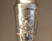 Chinese Silver Dragon Cocktail Shaker Antique (ca. 1900)