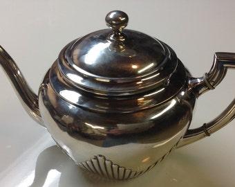 800 Silver Art Deco Teapot Germany Sterling