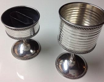 Sterling Silver Kiddush Cup and Havdalah Candle Holder Set
