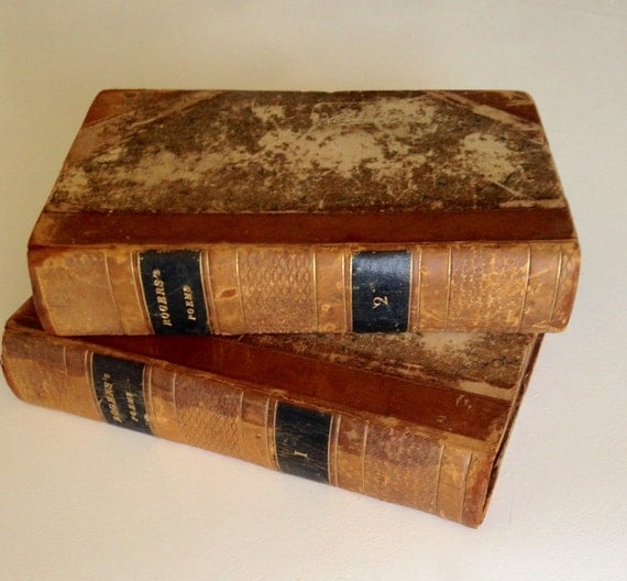 1834 - 1835 Poems by Samuel Rogers Vols I-II Leather Illustrated