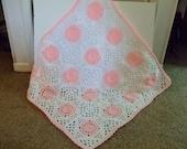 Crochet Baby Blanket, Baby Girl, Ready to Ship