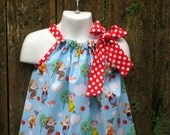 Seven Dwarfs from Snow White Pillowcase Dress, Sizes 3M  up to 7 years
