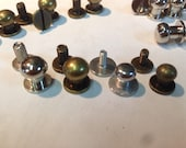Qty 10 ~ Button Stud and Post Silver or Antique Brass Finish 6mm or 8mm