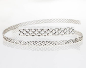 12 Inch (30.5cm) x 3.4mm Width Sterling Silver 935 Strip Gallery Decorative Ribbon, Pattern wire (C000058)