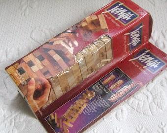 Vintage Jenga Game .  Wood Block Game . jenga game. patience game