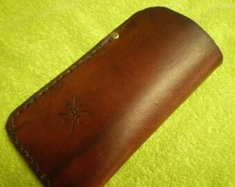 Bordeaux Leather Eyeglass Case