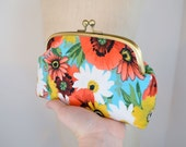 Fanny Frame Clutch in Mod Floral - From Diaper Bag to Date Night