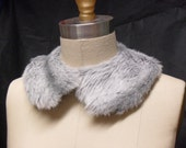 Grey Faux Fur Peter Pan Collar