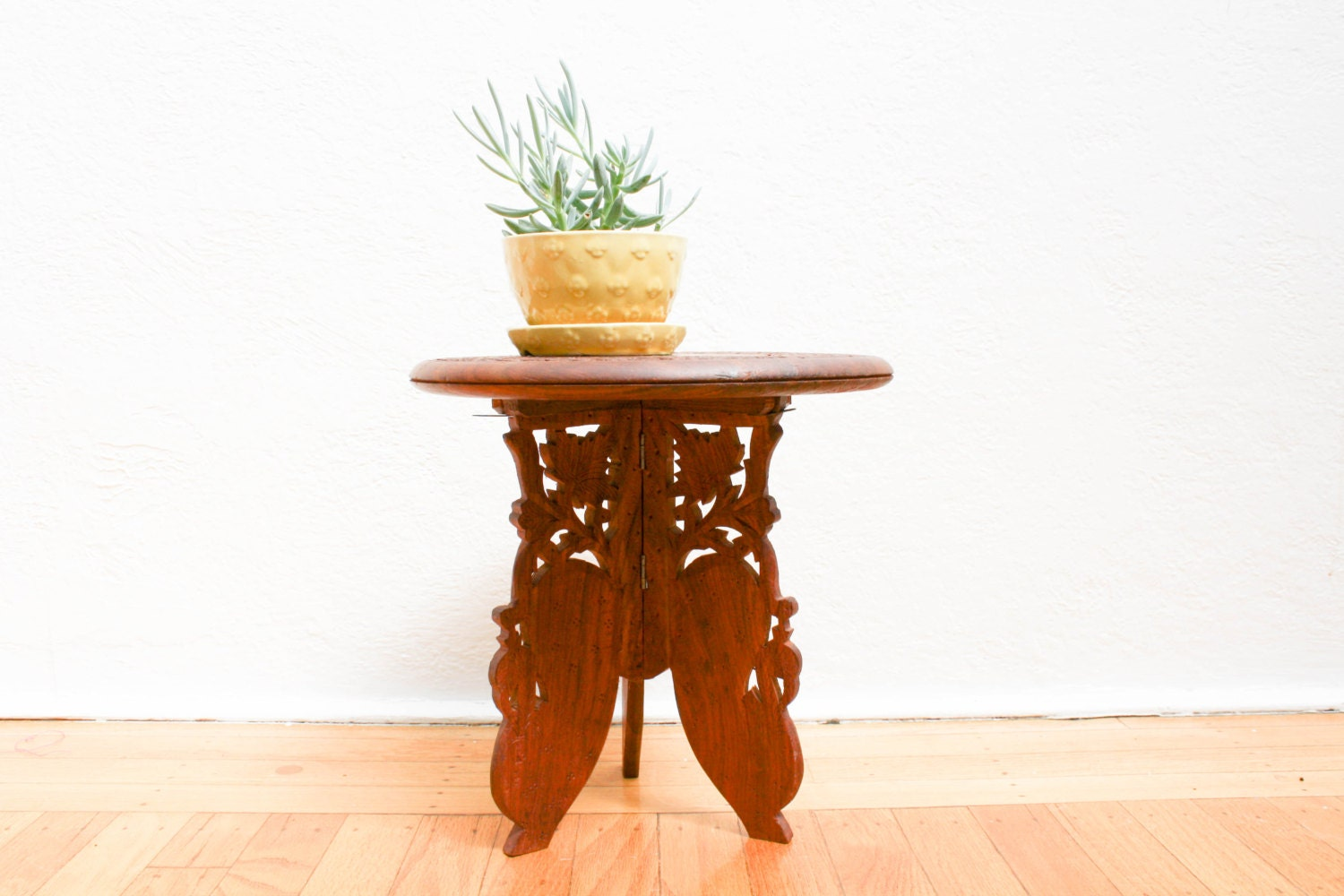 Vintage antique small inlaid travel occasional rosewood - Petite table haute ...