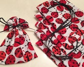 Lady Bugs, Mini Gift Bags, Favor Bags, Gift Wrap, Soap Bags, Jewelry Bags, Holidays, Treat Bags, Event Gifts, Love Bugs