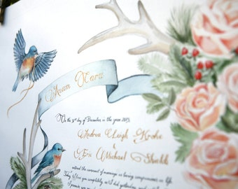 Woodland Marriage Certificate