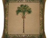 Palm Tree Design No 2 Tapestry Cushion Cover Sham