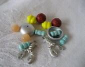 Lot of Vintage Lobster & Plastic Beads