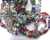 Millefiore Rosary Our Lady of Guadalupe Handmade