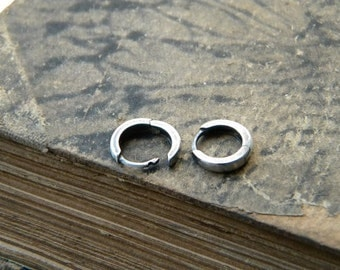 Tiny Huggie Hoop Earrings - Sterling Silver Earrings, small Hoops Earrings