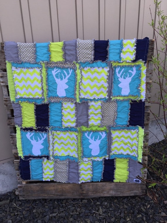 Addy Mae Rag Quilt Pattern Hack with Deer Silhouette