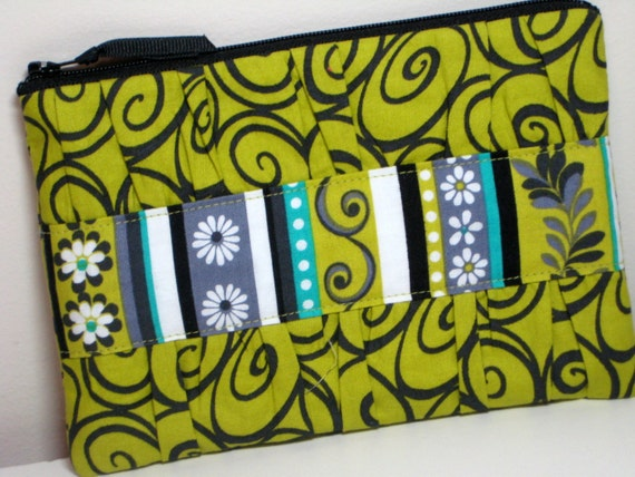 Gathered Clutch in Michael Millers Mini Ironwork in Lime
