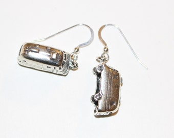 Sterling Silver 3D VINTAGE AIRSTREAM Earrings - Argosy, Avion, Camper, Trailer
