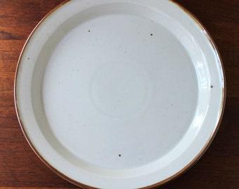 Dansk Brown Mist Denmark dinner plate, 1970s stoneware. Impressed backstamp, Nils Refsgaard design.