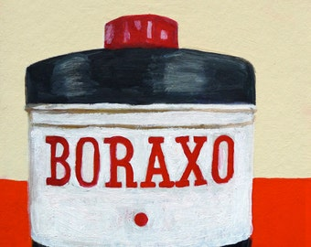 Boraxo. Original oil painting by Vivienne Strauss.