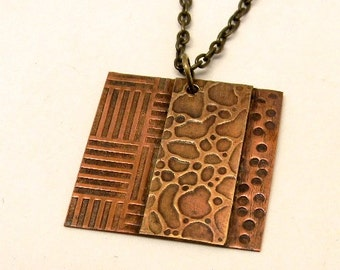 steampunk mixed metal jewelry necklace pendant. Steampunk jewelry.