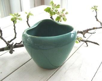 Vintage Turquoise Pottery Vase / Pot