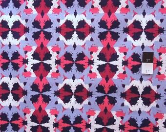 CLEARANCE Free Spirit Design Loft PWFS008 Kaleidoscope Mirrored Denim Cotton Fabric 1 Yard