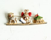 Vintage Walt Disney Productions Brooch - Old Antique - WDP W.D.P - circus - circus tent clown lion - scary clown -