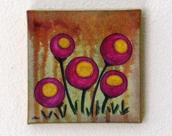 poppy fields mixed media painting art by Tremundo