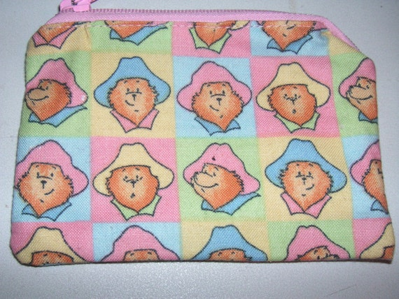 Paddington bear kids novelty handmade zipper fabric coin for Kids novelty fabric