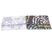 Lilac Paisley or Drip Dots Swirl Card Holder Case Your Choice of one