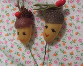 two wee acorn heads