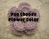 Crochet Double Layered Flowers set of 6 you pick the colors