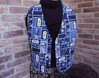 Star Wars vest  for Children--blue movie strip design