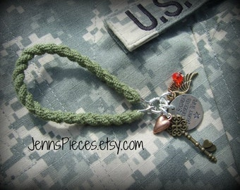 BRACELET: Every Soldiers Life Deserves A Trophy Wife Boot Band Blouser Bracelet SSG170 Army milso Marines National Guard Air Force navy usmc
