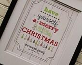 Custom Merry Little Christmas Print