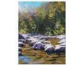 Original RIVER PAINTING by Listed Artist Graham Gercken Rocky Bridge Creek