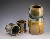 Salt Fired Stoneware Tumblers