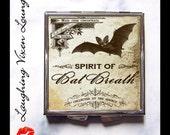 Potion Label Bat Breath Compact Mirror - Magic Potion - Bat Pill Box - Bat Mirror - Wizard Witch Potion - Magic Spell - Pillbox