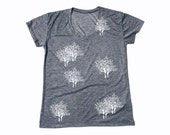 The Enchanted Forest - Womens T-shirt with White Trees - Tree of Life