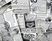 90 Original 1916 Needlecraft ad clippings for your altered art black and white