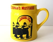 The Adventures of the Mustard Club Mug Yellow and Black and Red