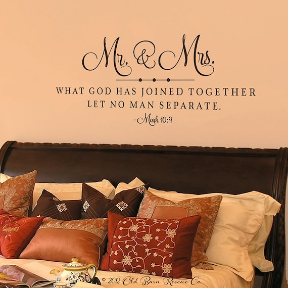 Items Similar To Mr And Mrs What God Has Joined Together Vinyl Wall Decals On Etsy