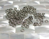 4mm 18g OPEN Antiqued Silver Plated Steel 30pcs Jump Rings Findings Jewelry/Jewellery/Craft Supplies