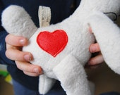 Eco Organic Natural Bunny Valentines Heart Rabbit Doll Stuffed Animal Toy