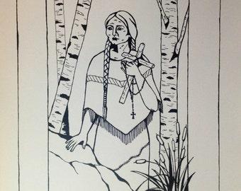 Saint Kateri Tekakwitha print