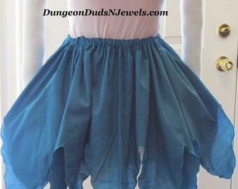 DDNJ Choose Color Multi Petal Tip Skirt Fairy Elf Elvin Sprite Renaissance Pirate Gypsy Witch Plus Custom Made ANY Size Anime Cosplay Lolita