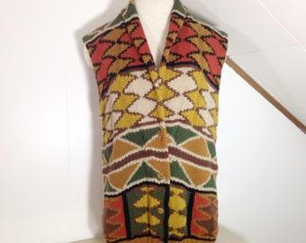 Vintage Aztec Sweater Vest