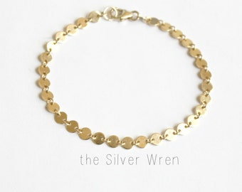 Simple Bracelet, Bridesmaid Gift, Rose, Silver or Gold Bracelet, Gifts under 30, Chain Bracelet, The Silver Wren