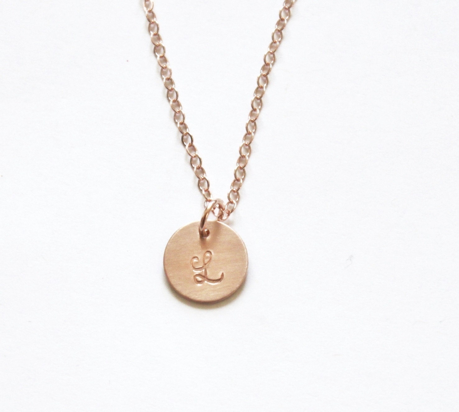 Rose gold necklace initial necklace personalized necklace for Rose gold personalized jewelry